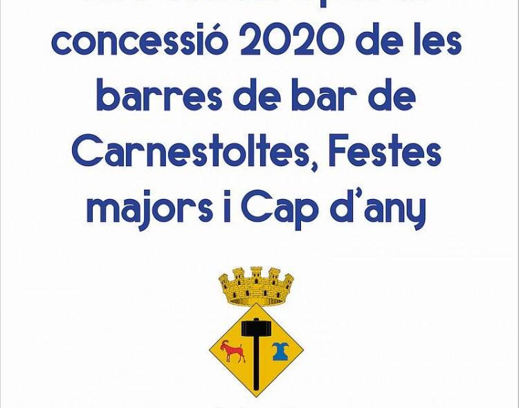 Concurs per la concessió de les barres de bar per les festes de 2020